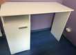 bureau blanc bois