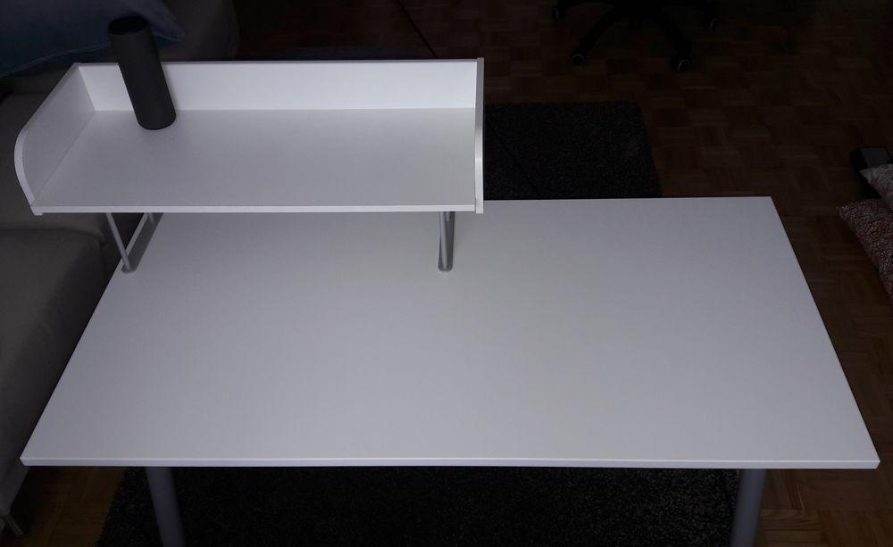 Bureau, blanc, couleur argent, 160x80 cm Ikéa 75 Maisons-Alfort (94)