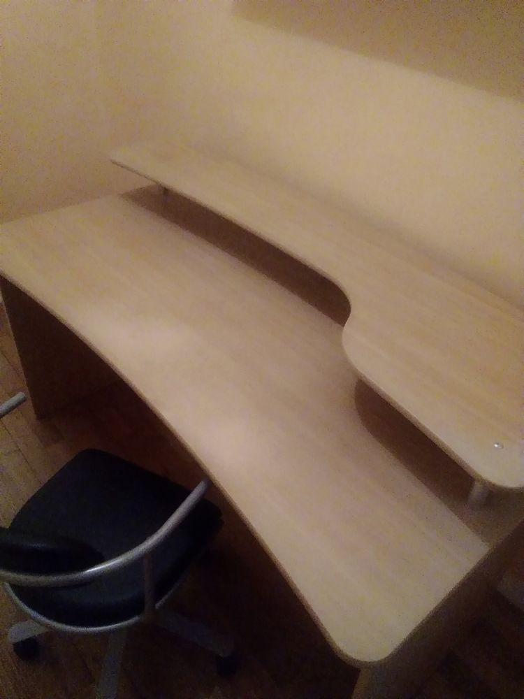 Bureau en Bois avec etagere et chaise 20 Locarn (22)