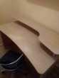 Bureau en Bois avec etagere et chaise