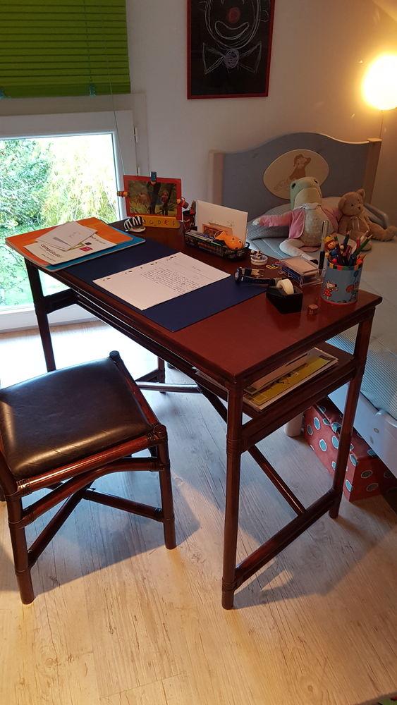 Bureau bois/bambou et chaise coordonnée 25 L'Haÿ-les-Roses (94)