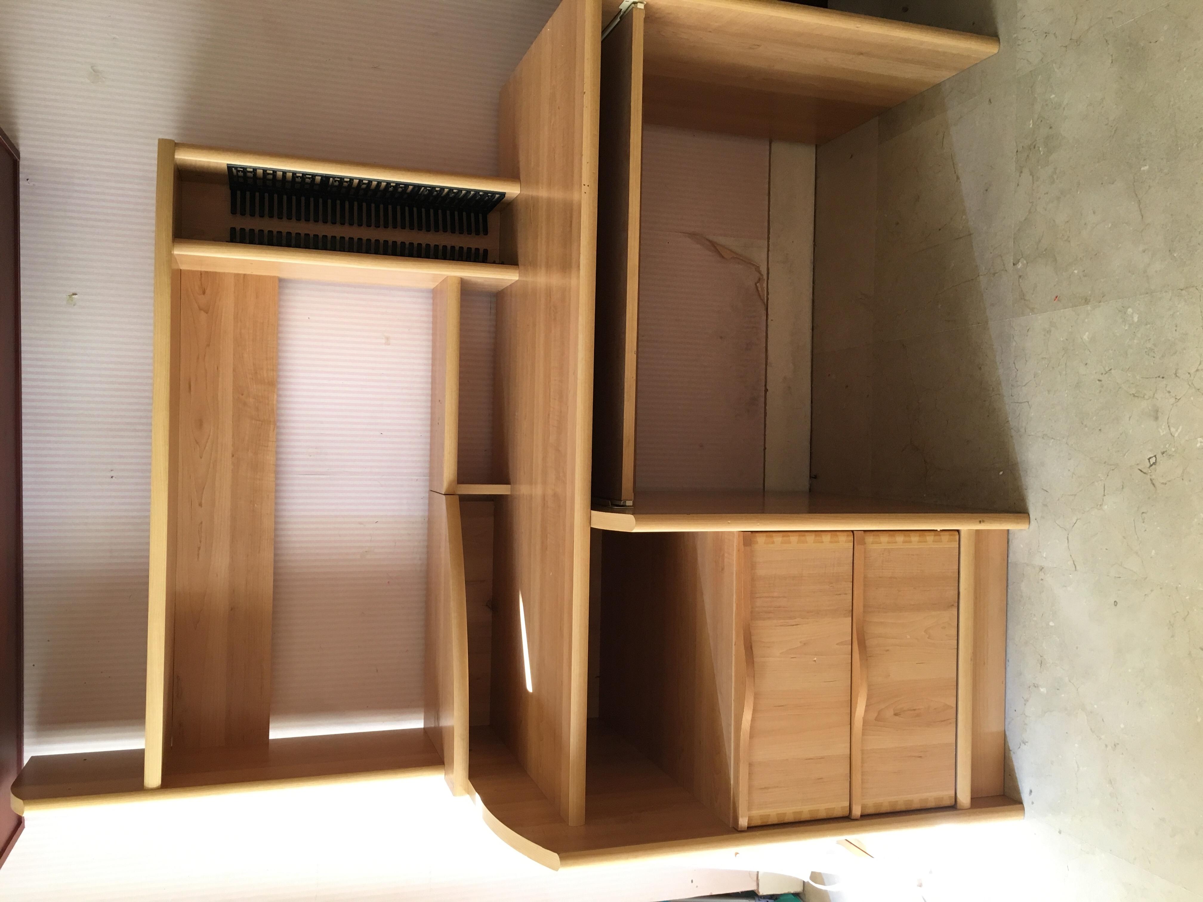 Don bureau en bois clair occasion annonce neuilly sur - Bureau bois occasion ...