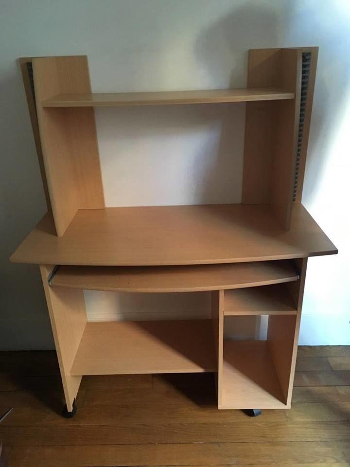 Achetez bureau en bois sur occasion annonce vente for Meuble bureau sur roulettes