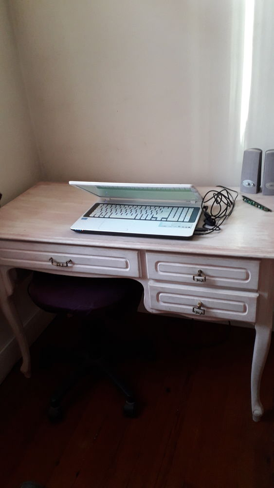 bureau bois style 1 grand tiroir 2 petits tiroirs 80 Hasparren (64)