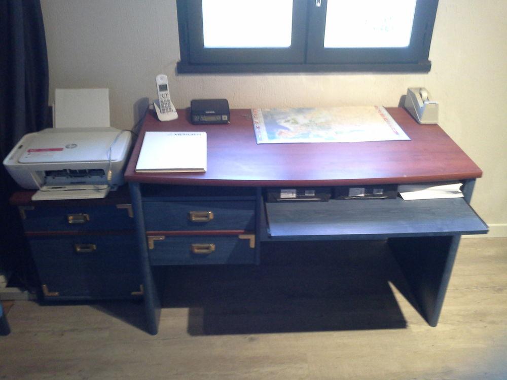bureau + caisson + bibliothéque 140 Saubrigues (40)