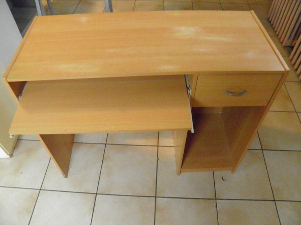 bureau hètre informatique (enfant) 1 tiroir+ Tirette clavier 14 Isles-les-Meldeuses (77)