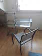 Bureau informatique métal et verre + fauteuil Hesperides Meubles