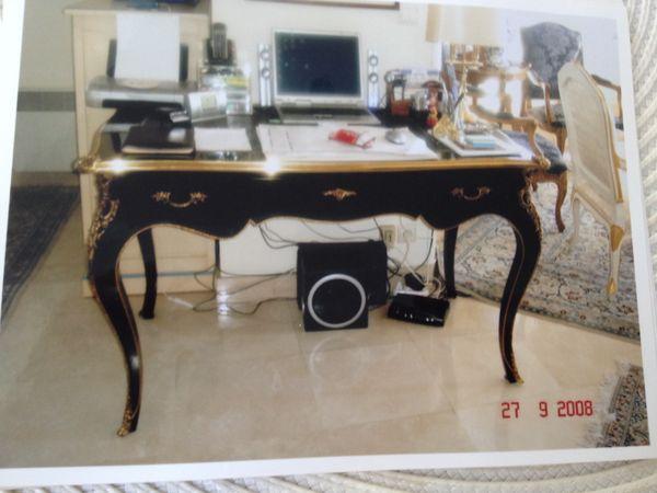 Bureau louis xv noir 1200