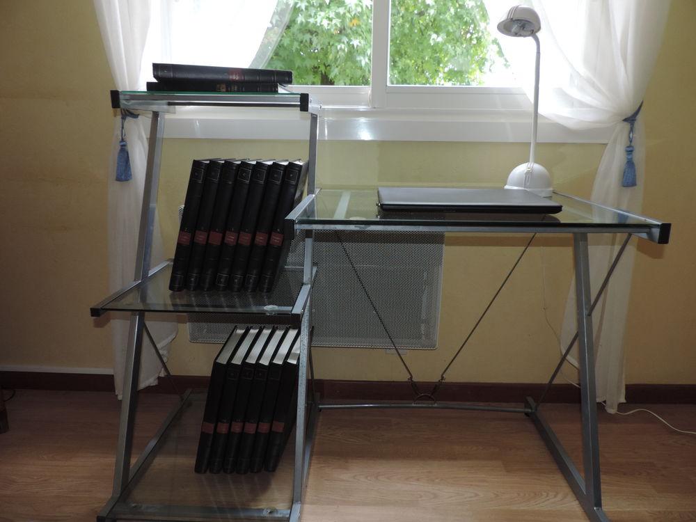 Bureau métal gris/verre 30 Dax (40)