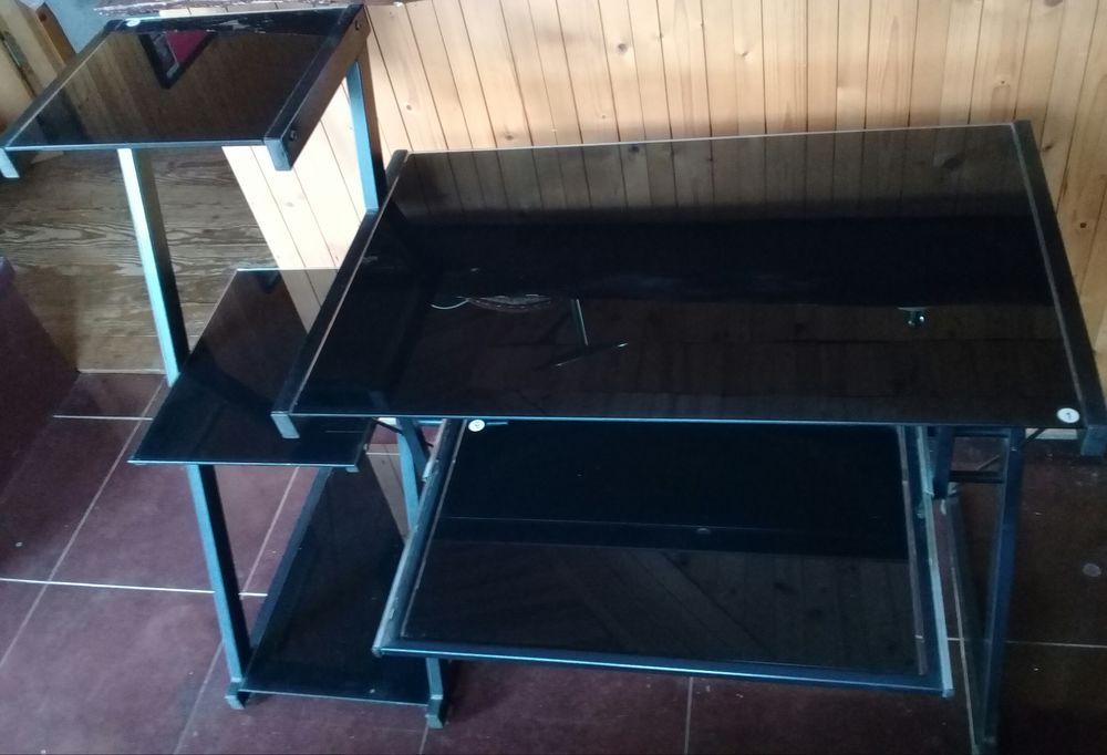Bureau en verre trempée 60 La Réunion (97)