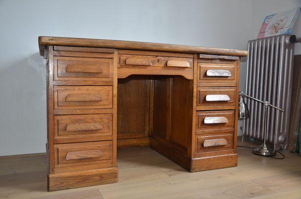 Achetez bureau vintage bois occasion annonce vente for Meuble bureau occasion 78