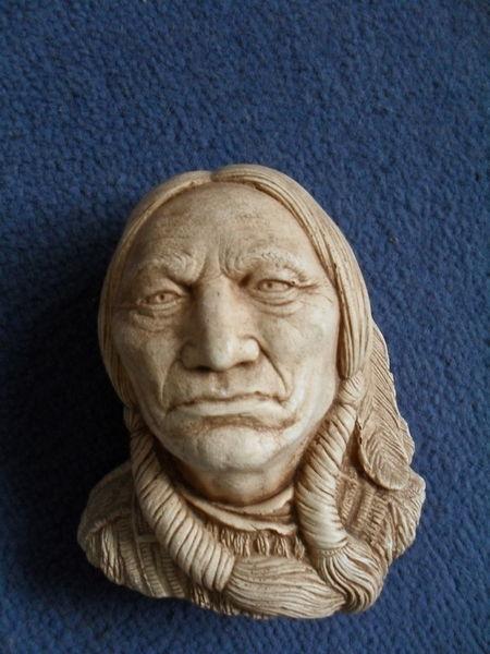 Buste collection tête indien sioux  sitting bull  0 Toul (54)