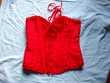 Bustier-Corset (ou Serre-Taille) Rouge Taille XL à 5 €