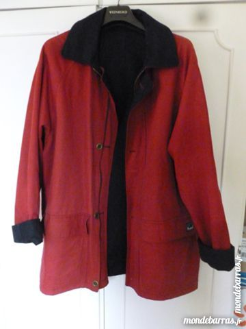 Caban réversible rouge et bleu 15 Thiais (94)