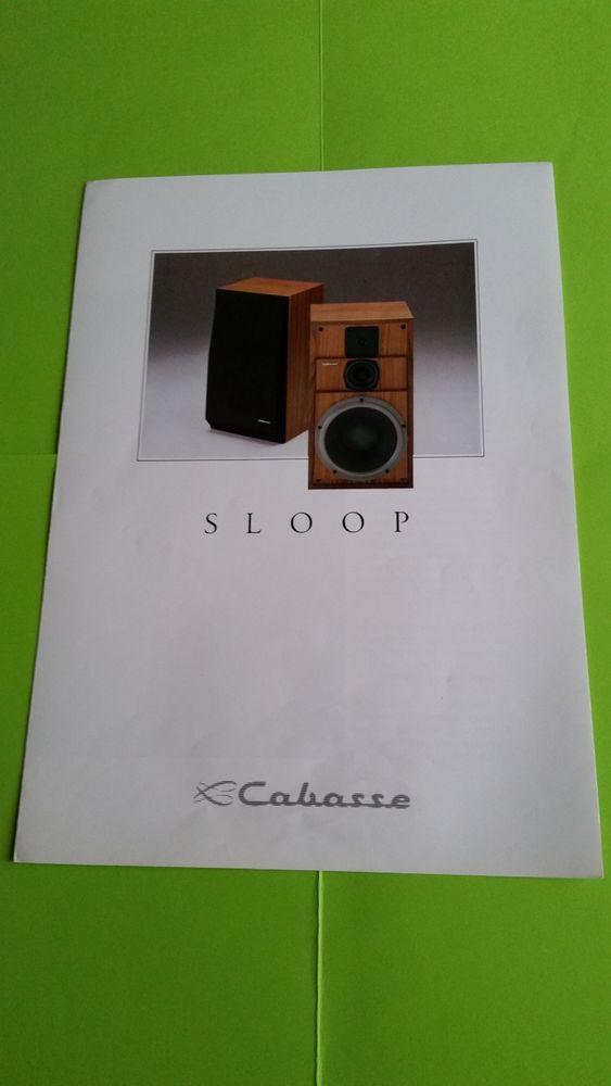 CABASSE SLOOP Audio et hifi