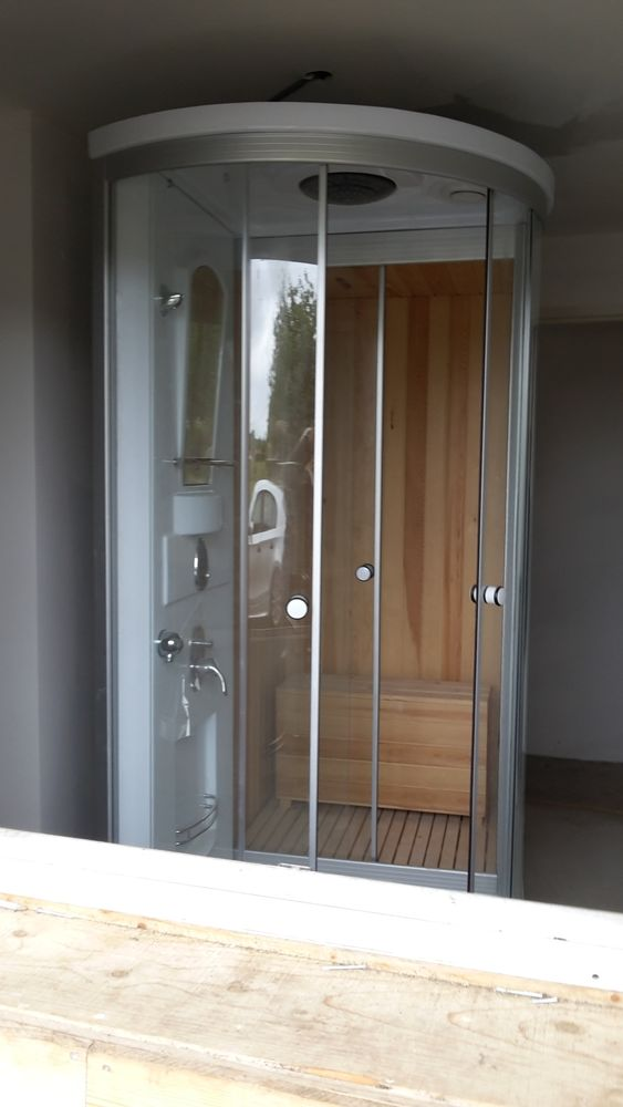Cabine de douche hydromassante sauna 1000 La Bastide-du-Salat (09)