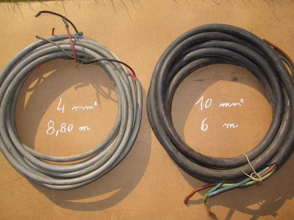 Câble électrique3G4 mm²  et  3G10 mm² 16 Comines (59)