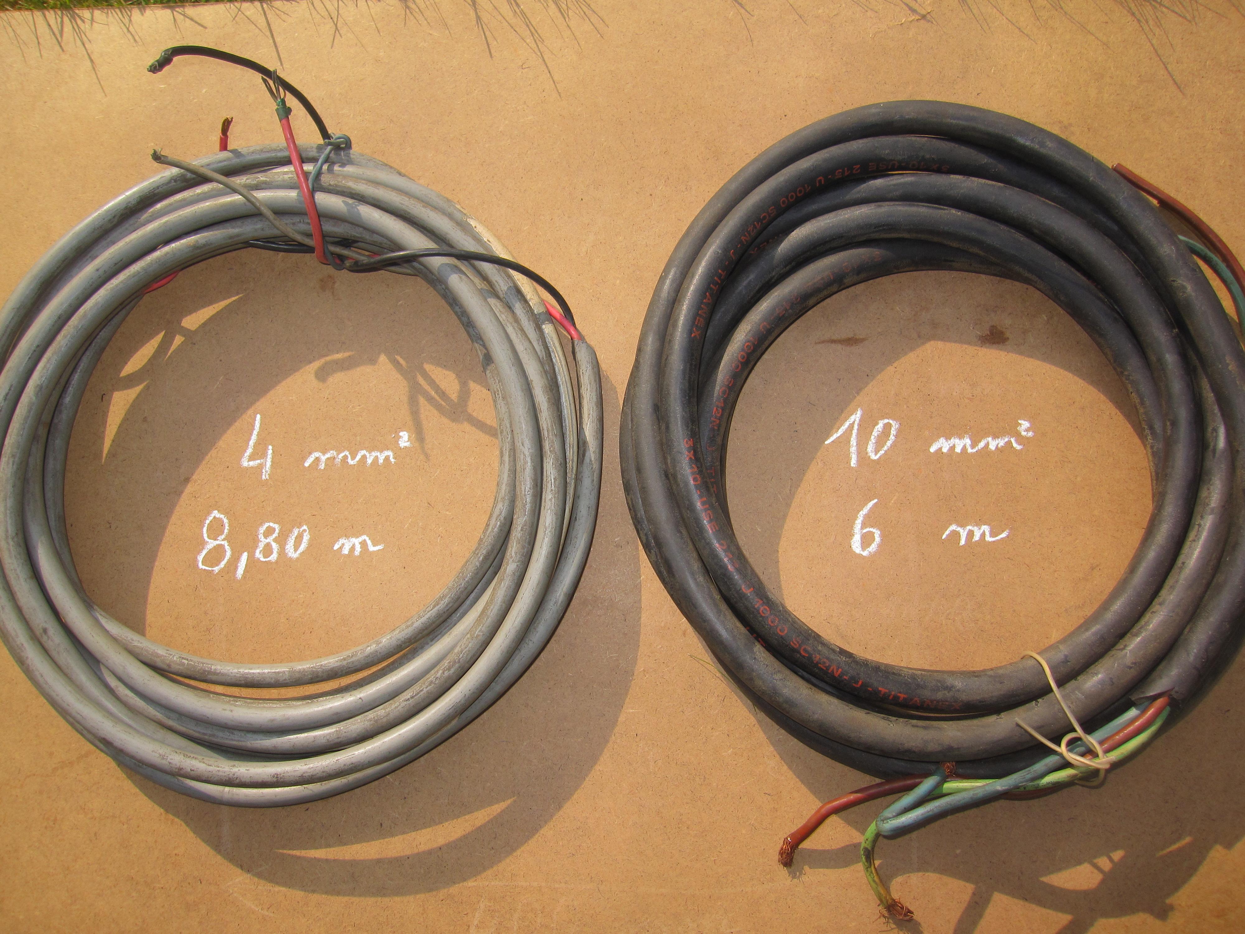 Câble électrique  3G4 mm² 16 m. et  3G6 mm²  6 m. 18 Comines (59)