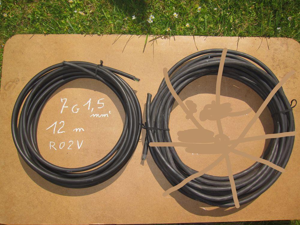 Câble électrique  7G1,5 mm²    12 m. et 17 m. 19 Comines (59)