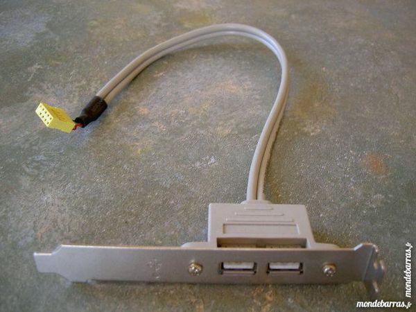 """""""1 câble sur équerre """"""""USB bracket""""""""."""" Matériel informatique"""