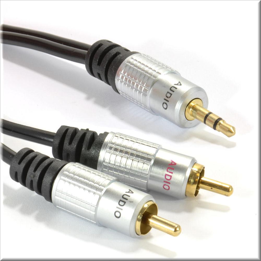 Câble Jack 3.5 mm vers deux fiches mâles RCA - Neuf 6 Paris 13 (75)