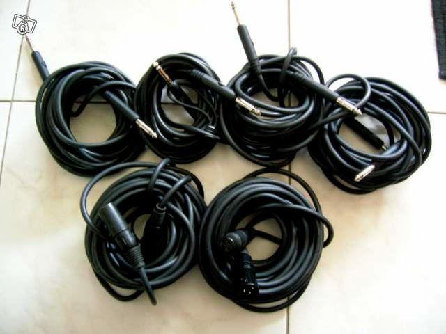 LOT 6 CABLES XLR PRO + JACK MICRO - Diverses longueurs 89 Sautron (44)