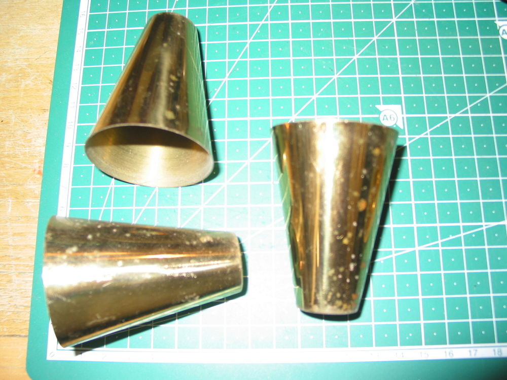 Lot de 3 cache douille pièces de lampe lustre luminaire vint 5 Marseille 13 (13)