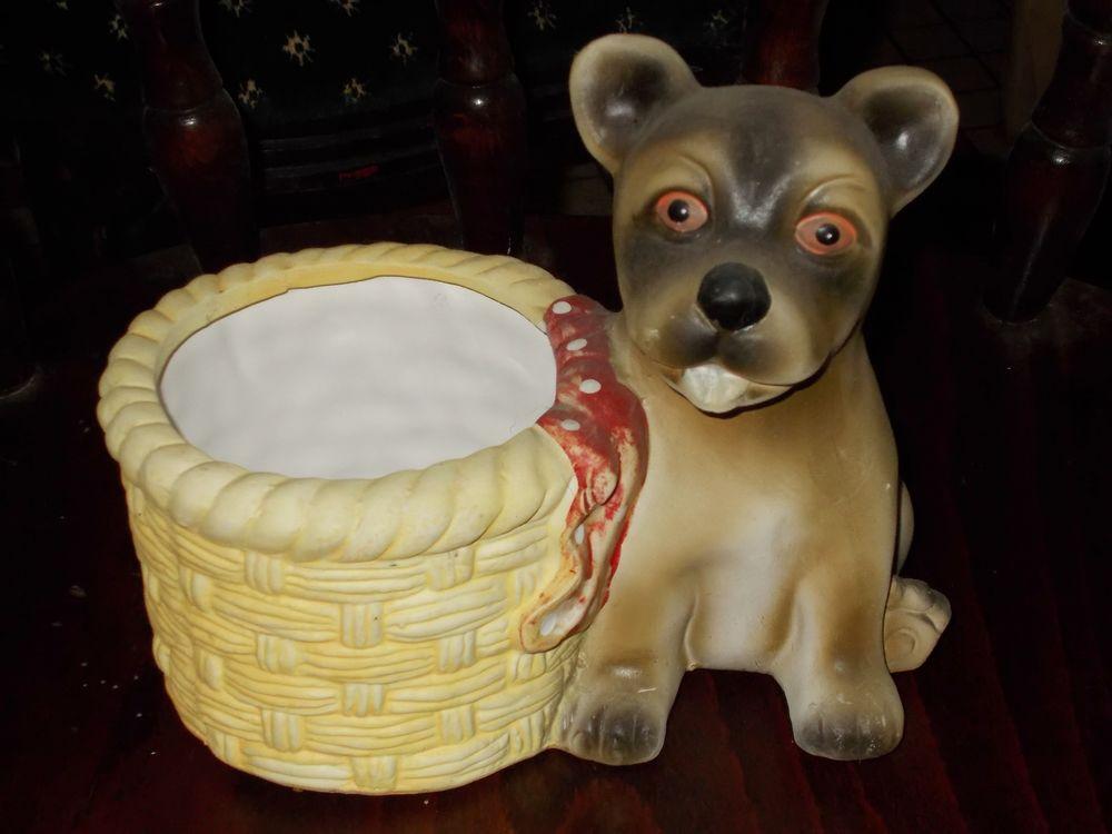 Cache pot fleur chien diamètre 12cm (vintage) 10 Monflanquin (47)