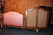 Cadre de lit ancien en bois sculpté 1 place Meubles