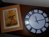 cadre avec jaguar et horloge murale 5 Ondres (40)