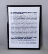 Cadre avec texte Décoration