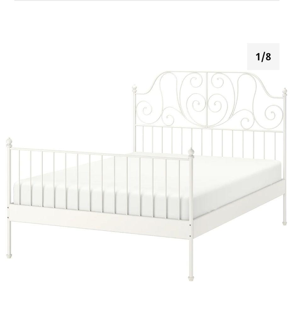 Cadre de lit blanc 140x200 cm comme neuf  100 La Ciotat (13)
