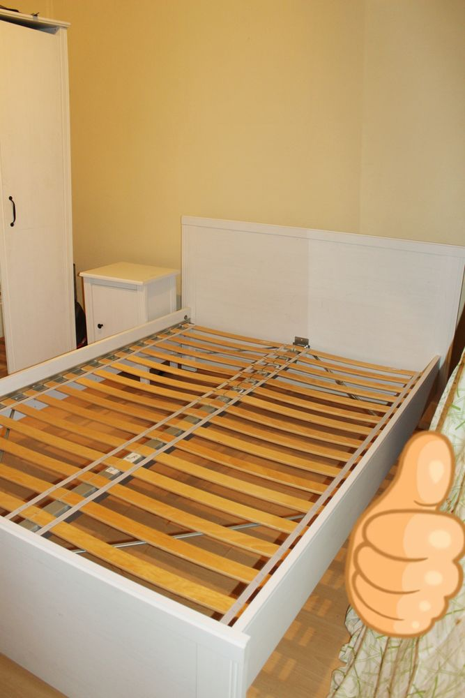 - Cadre de lit blanc 2 places BRUSALI 115 Villemomble (93)