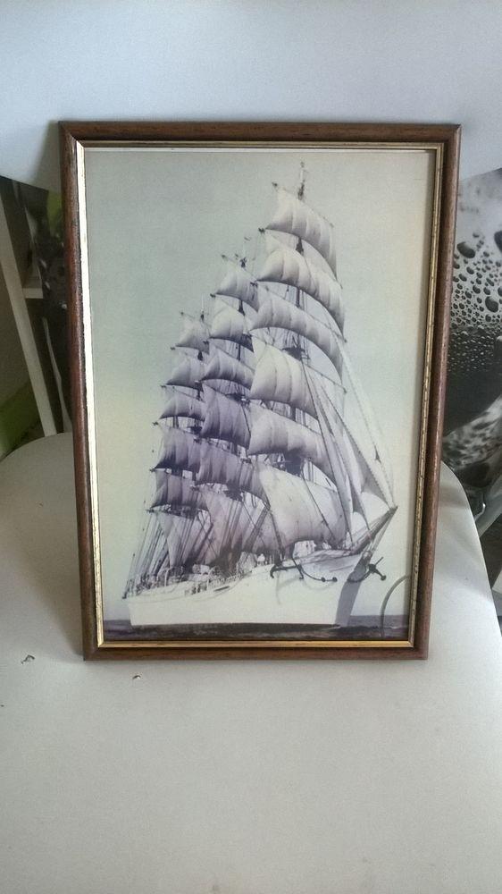 Cadre en bois avec image de bateau 3 mats 5 Talange (57)