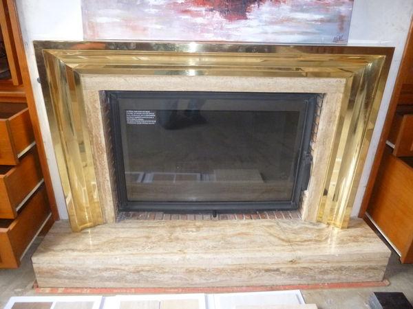 cadre de cheminée mouluré en laiton 100 Brest (29)