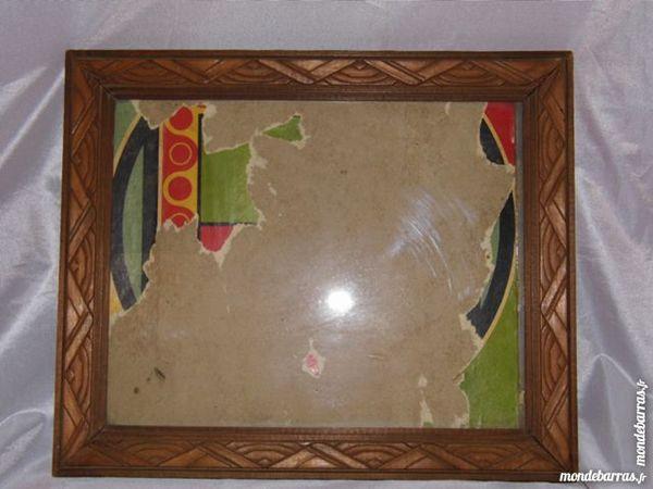 Cadre art déco vitrée vintage bois sculpté antique 20 Dunkerque (59)