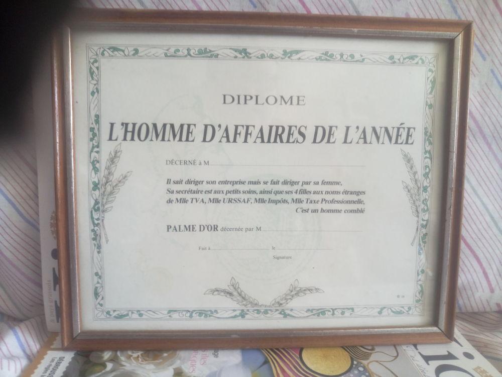 CADRE DIPLOME L'HOMME D'AFFAIRE DE L'ANNEE SOUS VERRE 10 Grasse (06)