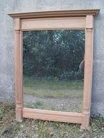 cadre miroir en Merisier