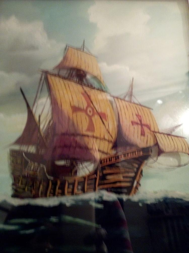Cadre peinture sous verre en relief 5 épaisseurs
