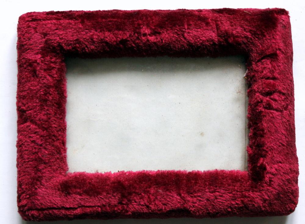 Cadre photo Napoléon III velours bordeaux verre bombé 18 Issy-les-Moulineaux (92)