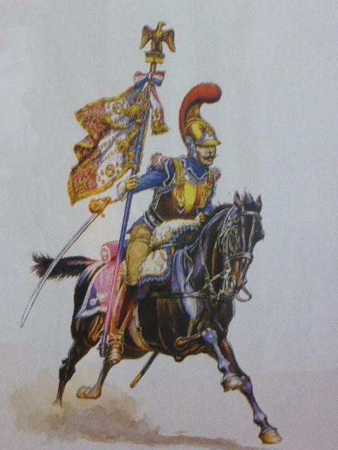 Cadre porte étendard de carabinier 1er empire 10 Rueil-Malmaison (92)