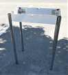 cadre table avec pieds inox + nécessaire pour fixer plateau