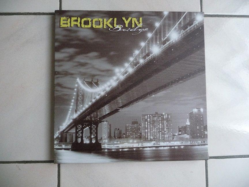 Cadre Toile noire & blanc Pont de Brooklyn - NEUF 10 Montigny-le-Bretonneux (78)