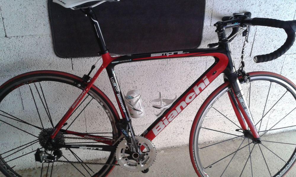 cadre vélo route Bianchi carbone 600 Canet-en-Roussillon (66)