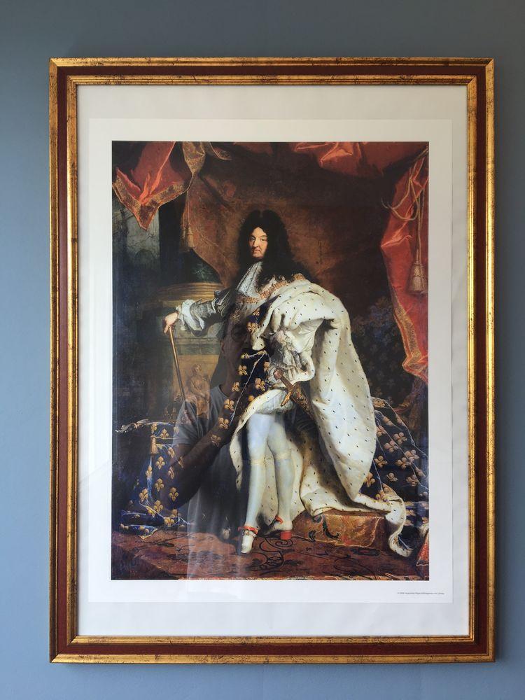 2 CADRES AVEC PHOTO LOUIS XIV en costume Royal - AFFICHE VIG 180 Avon (77)