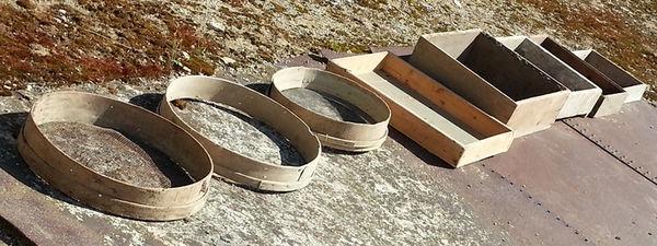 8 cadres en bois ronds ou carrés  59 Saint-Clair-sur-Galaure (38)