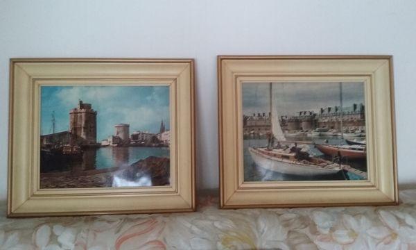 2 Cadres photos prises dans port de La Rochelle 20 Charenton-le-Pont (94)