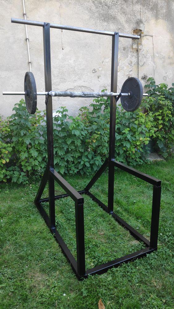 Cage squat barre tractions (personnalisable sur-mesure) Sports