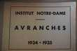 CAHIER 1934 -1935 Institut NOTRE DAME d'Avranches,