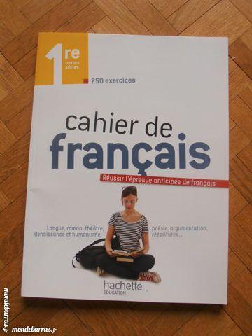 Cahier de français - Classe de 1ère (4) 4 Tours (37)